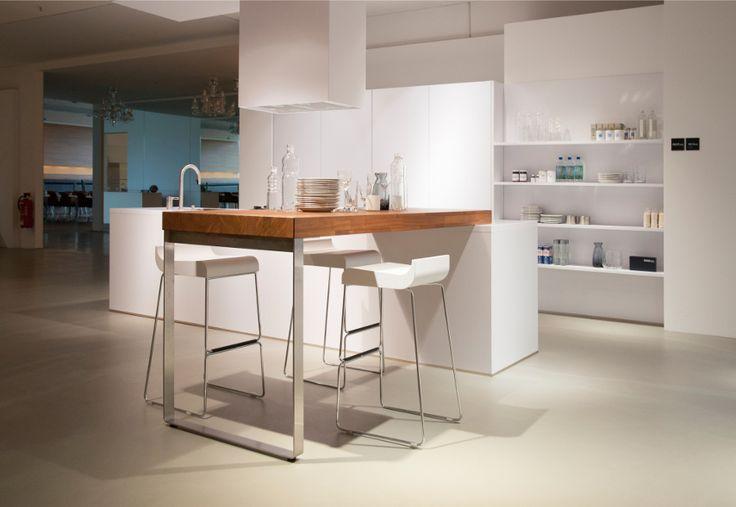Polar white matt German Designer Kitchen