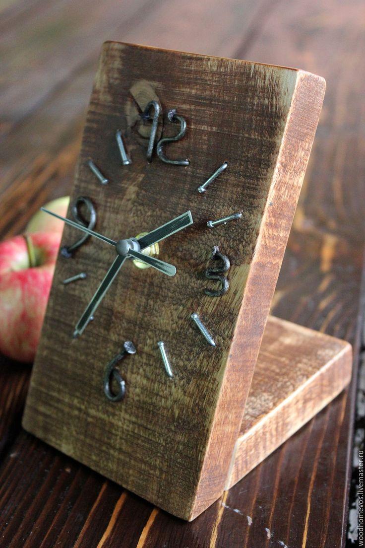 Купить Настольные часы loft - комбинированный, часы, часы интерьерные, часы ручной работы
