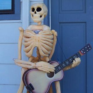 Creative Halloween Life-size Skeleton Pumpkin Carving