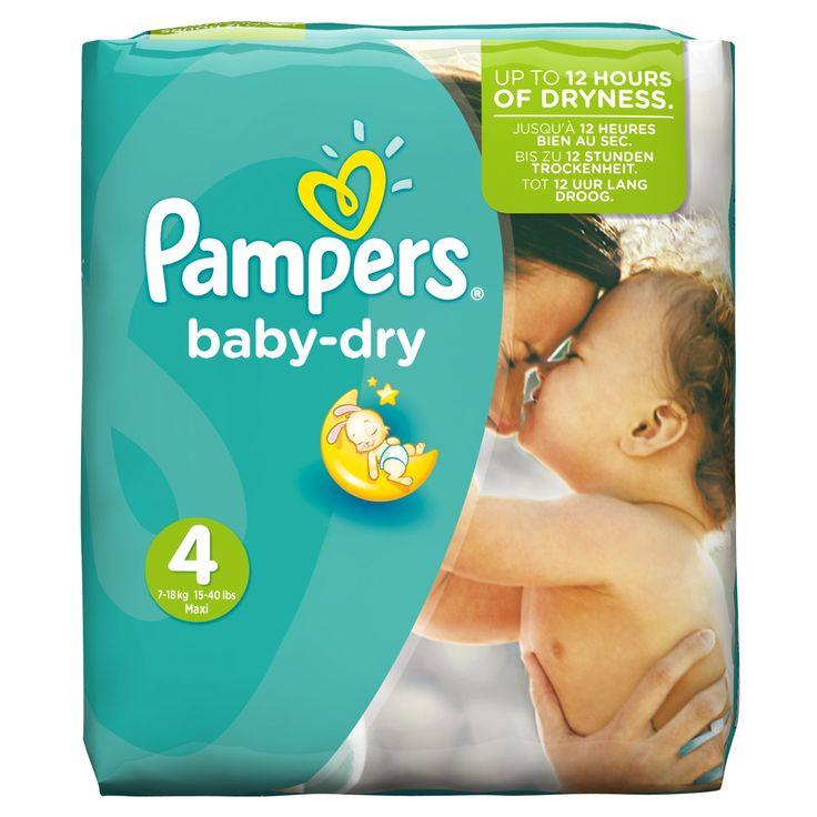 Pampers Windeln Baby Dry Gr. 4 Maxi 7-18 kg Monatsbox, 1er Pack (1 x 174 Stück)