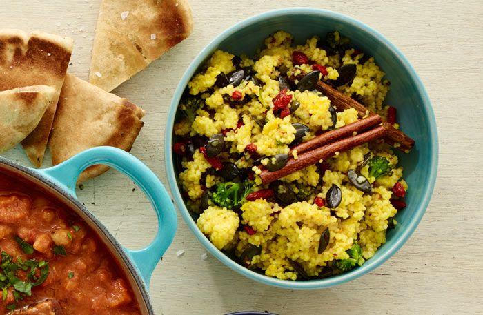Currystekt tofu med krämig grönsaksbulgur | Allt om Mat