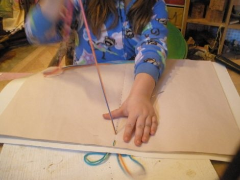 Giant main lesson book tutorial - perfect for making sketchbooks with the kids!