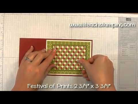 How to Make a Flip Flop Card Using Stampin' Up!'s Festival of Prints DSP   I Teach Stamping