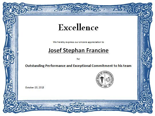 Sports Excellence Award Certificate Template Word Amp Excel Templates  Certificates  Free Appreciation Certificate Templates For Word