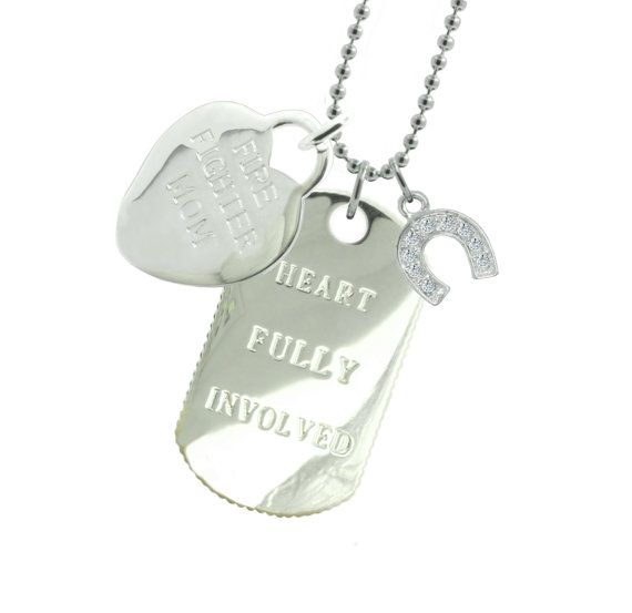 Firefighter Mom Dog Tag HS - (Free Shipping)