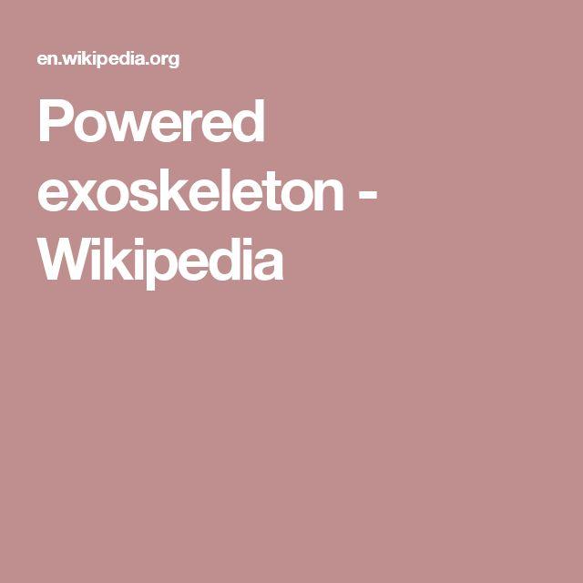 Powered exoskeleton - Wikipedia