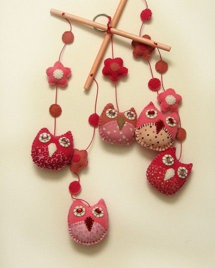 Hand sewn baby's mobile... 'sew' cute!!  I almost want another girl hehe