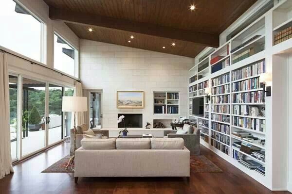 such a great space with vaulted ceiling.