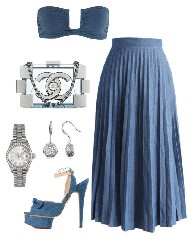 """""""Untitled #530"""" by fashionkill21 ❤ liked on Polyvore featuring Prism, Chicwish, Charlotte Olympia, Rolex, BERRICLE and Chanel"""