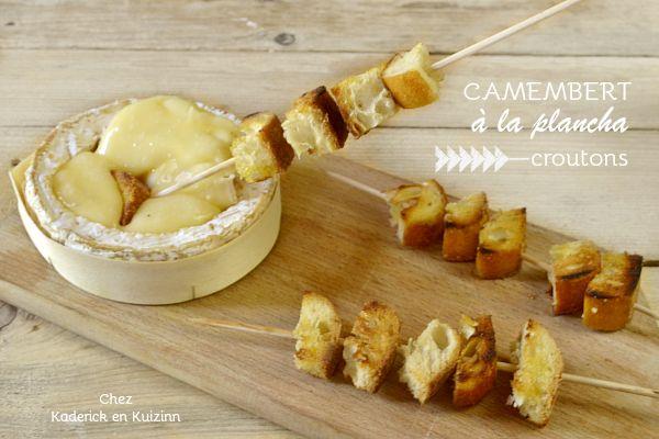 Camembert - Recette camembert roti à la plancha et croutons dorés