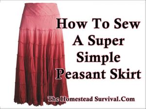 How To Sew A Super Simple Peasant Skirt | The Homestead Survival