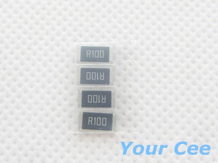 50 יחידות 2512 הנגד SMD 1 W 0.1R 1% נגד שבב 0.1 אוהם R100