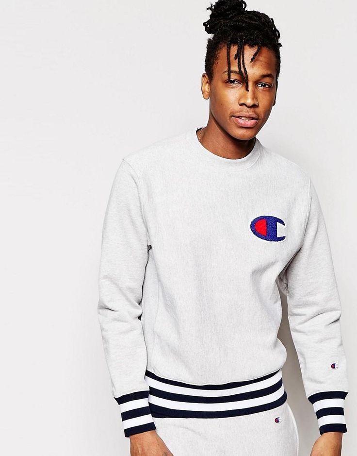 Champion | Champion Sweatshirt With Logo and Ribbed Hem