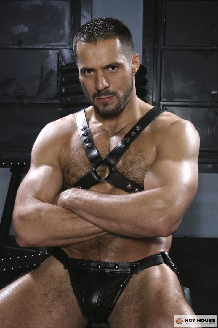 Men hot leather naked