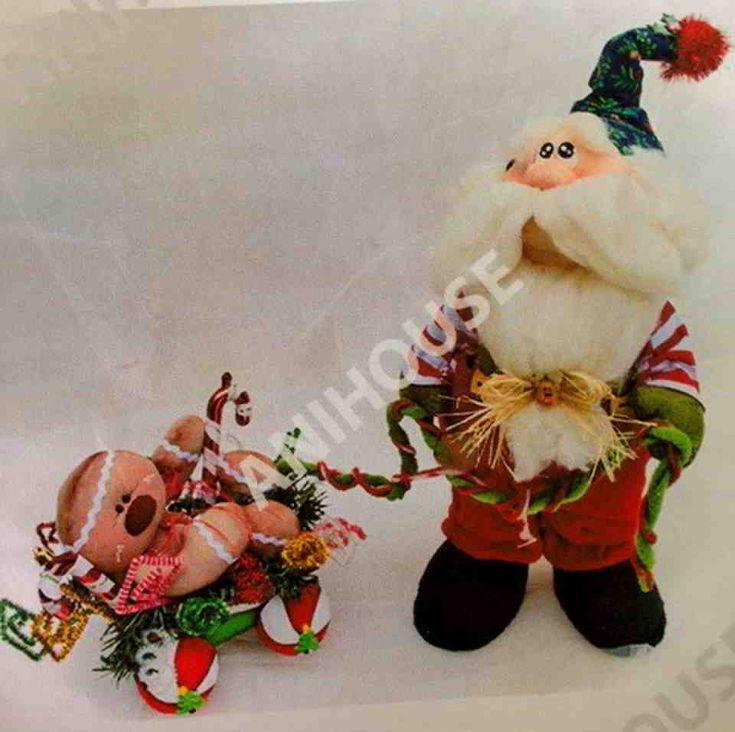 Muñeco de Noel paseando a la galleta de jengibre