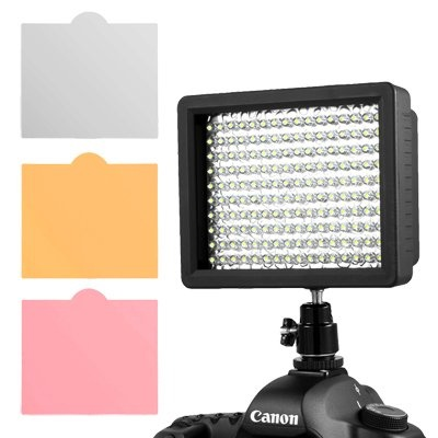 Buy Cheap Chromo Inc.® 160 LED CI-160 Dimmable Ultra High Power Panel Digital Camera / Camcorder Video Light, LED Light for Canon, Nikon, Pentax, Panasonic,SONY, Samsung and Olympus Digital SLR Cameras
