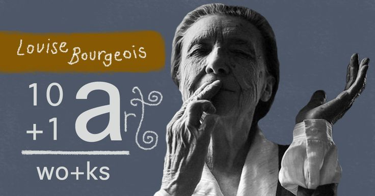 The art of Louise Bourgeois 10+1 Artworks Youtube channel TRECE LUNAS Cover art by Rita Ro