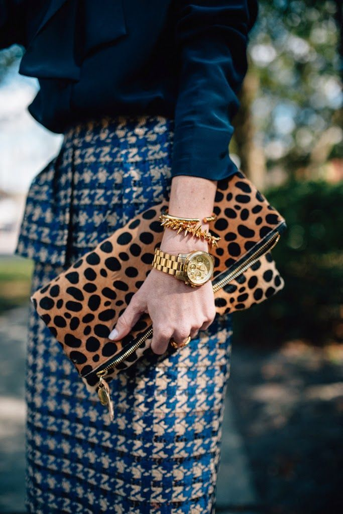 How to mix and match ladylike clothes with wild accessories.