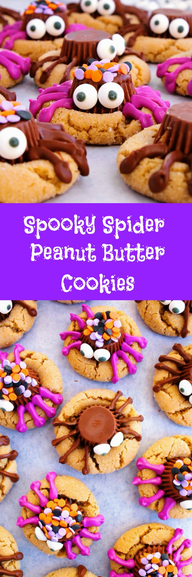 Spooky Spider Peanut Butter Cookies - Classic peanut ...