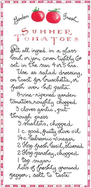 My all time favorite recipe for garden fresh tomatoes!