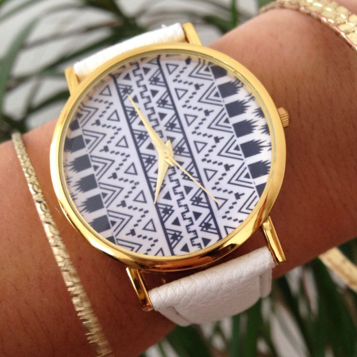 Aztec White Ladies Watch by CollectionsbyHayley on Etsy, $27.00