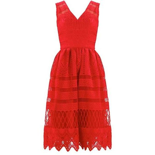 Chi Chi London Petite Cocktail dress Party dress (330 BRL) ❤ liked on Polyvore featuring dresses, red dress, chi chi dresses and red cocktail dress