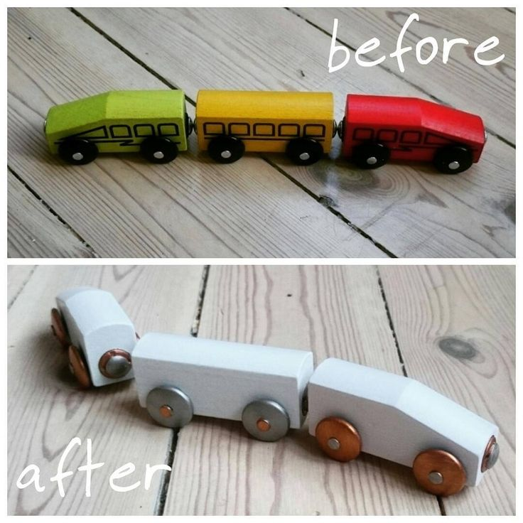 DIY IKEA hack. Turning those cheap toy trains into small jewels!