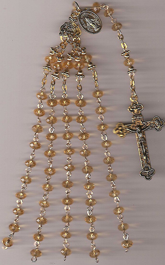 Unusual rosary. Maybe I would quit losing where i am at. or maybe it would worse! or maybe it would be super tangled