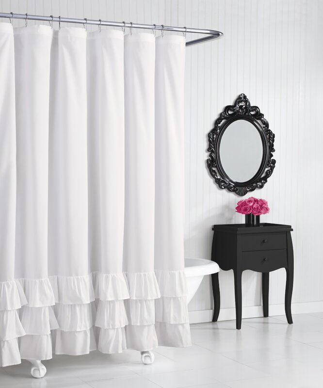 Solid Shower Curtain Ruffle Shower Curtains Shower Curtain