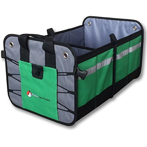 Premium Car Trunk Organizer  Best Heavy Duty Construction - Great For Car, SUV, Truck, Minivan, Home- Collapsible For Easy Storage- Higher Gear Products. For product info go to:  https://www.caraccessoriesonlinemarket.com/premium-car-trunk-organizer-best-heavy-duty-construction-great-for-car-suv-truck-minivan-home-collapsible-for-easy-storage-higher-gear-products/