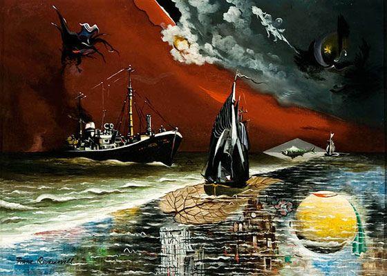 Franz Radziwill, Der Fischdampfer und der Fischkutter, 1957