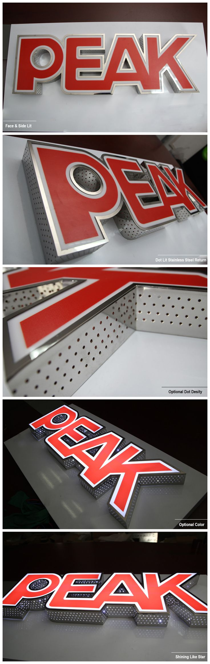 Dot Acrylic Illuminated Channel Letter Sign More