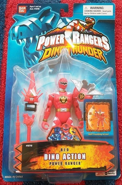 Power Rangers Dino Thunder Action Red Ranger Action Figure NeW Original Package #Bandai