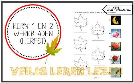 Juf Shanna: Thema herfst: Veilig Leren Lezen - kern 1 & 2