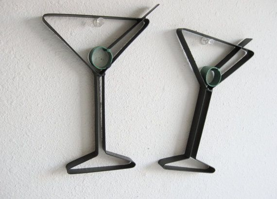 Martini Gl Metal Wall Decor By Just4theartofit On Etsy 12 00