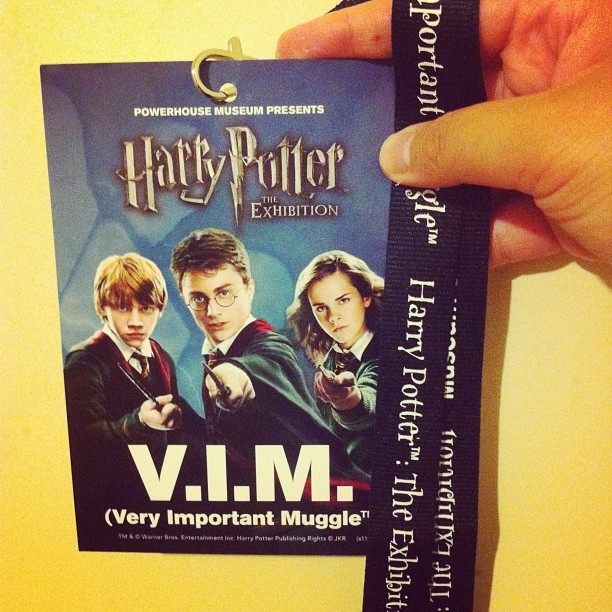 My Harry Potter V.I.M {Very Important Muggle} which I obtained when going to see the Harry Potter Exhibition.  #HarryPotter #Potter #JKRowling #Hogwarts #HarryPotterExhibition #HPExhibition