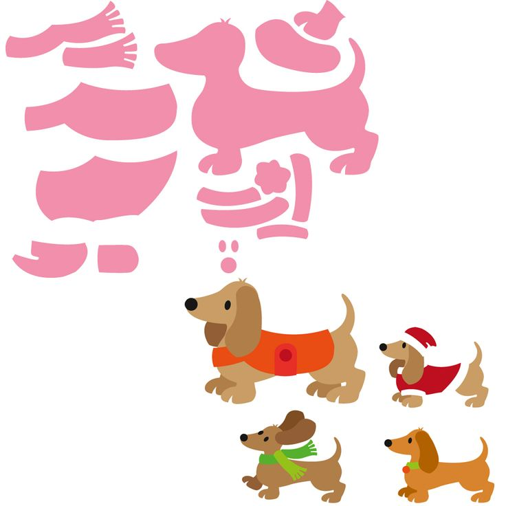 NEW Marianne Design Collectable - Eline's Dachshund (9pcs)