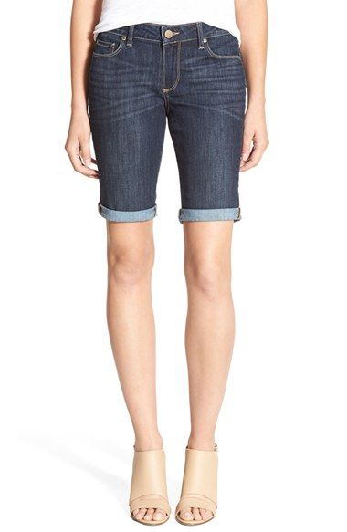 PAIGE 'Jax' Denim Bermuda Shorts (Lavena)