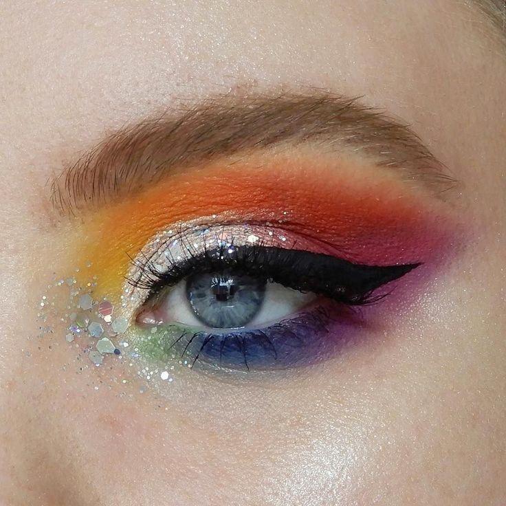 rainbow pride makeup hidden eyemakeupchristmas crease