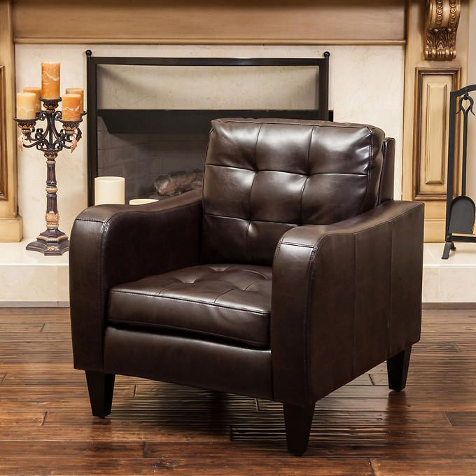 Louisa Tufted Bonded Leather Club Chair