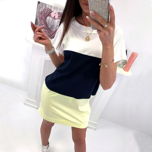 Spring summer casual loose dress women long sleeve dresses backless o neck bow clothing