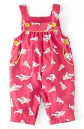 Mini Boden Print Jersey Overalls (Baby Girls)