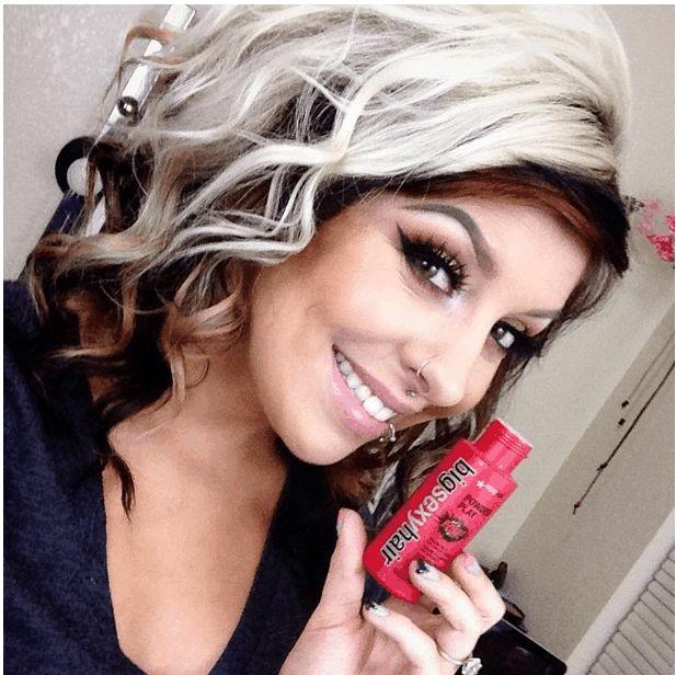 blonde hair with black underneath
