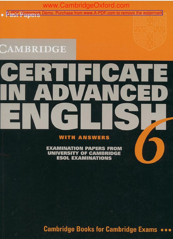 Cambridge certificate in advanced english 6