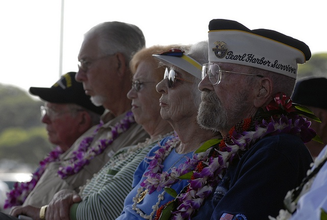 121207-N-KT462-387 PEARL HARBOR (Dec. 07, 2012) Pearl Harbor survivor Ed Vezey attends the USS Oklahoma Memorial Ceremony on Ford Island during the Pearl Harbor Remembrance Day. Vezey was stationed on the USS Oklahoma during the attacks on Pearl Harbor 71 years ago. Visitors, including Pearl Harbor survivors and other veterans, attended the National Park Service and U.S. (Photo by MC2 Jon Dasbach)