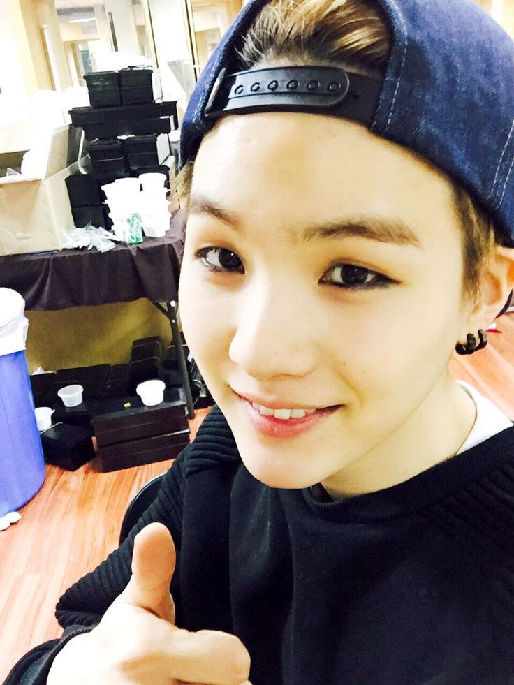 "BTS Tweet - Suga (selca) 150329 after the BTS Begin Concert [tran] ""You guys all worked hard today!!! It's was really fun-syub!!! Honestly, performing eight songs in a row is tiring..."" cr: ARMYBASESUBS · @BTS_ABS"
