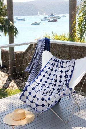 Dover Egyptian beach towel at Palm Beach (www.wongaroad.com.au)