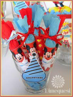 Dimequesi: Mesa de golosinas de Mickey para Vittorio.