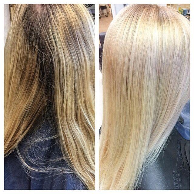 Two-Tone, strawberry pastel balayage! #velvetkampaamot #velvettöölö #balayage #sunkissedhair #essensity #schwarzkopfessensity #beachhair #babylights #varioblonde #schwarzkopfpro #apassionforhair #nofilter #igoravibrance  #igora #igoraroyal #schwarzkopfprofessional #madetocreate #osis #blondme #haircolor #haircolour #haircolorist #followme #turnonnotifications #turnonpostnotifications