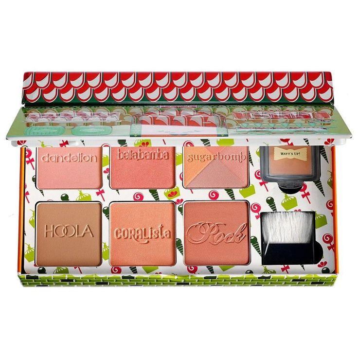 Benefit Cheeky Sweet Spot Face Powder, Blush, Highlighter, Bronzer in Tin Box #BenefitCosmetics